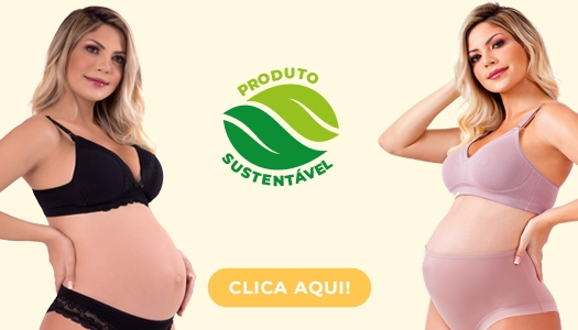 Lingeries para gestantes e pós-parto com renda, regulagens e sustentação!